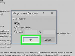 How To Mail Merge In Microsoft Word  With Pictures