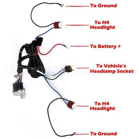 ceramic h4 headlight headl h4 light bulb relay wiring
