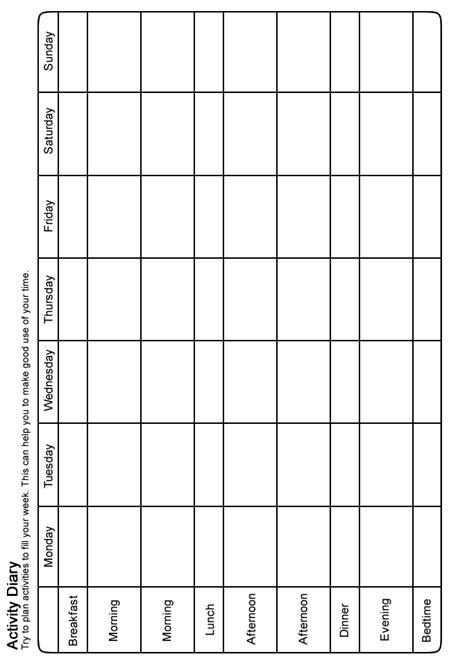 moodjuice activity scheduling worksheet   guide