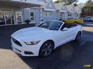 2016 Oxford White Ford Mustang V6 Convertible #109205827 Photo #4 | GTCarLot.com - Car Color ...