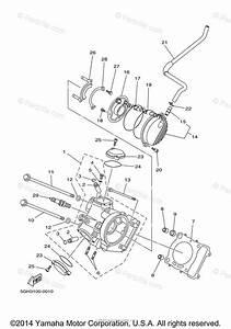 Yamaha Atv 2001 Oem Parts Diagram For Cylinder Head