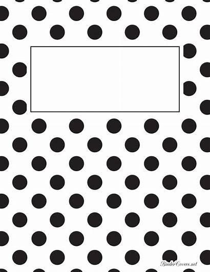 Binder Printable Templates Covers Notebook Dot Polka