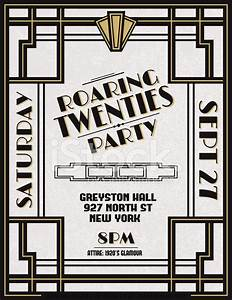 Art deco party invitation template stock photos for Art deco party invitation templates