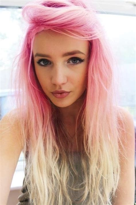 Pink Hair And Blonde Tips Hair Of Choice Pinterest