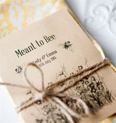 meant  bee seed packet favours  wedding