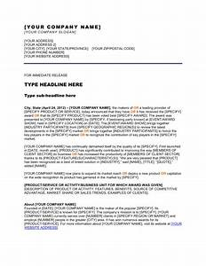 Press release company won an award template sample for Award press release template