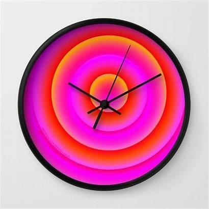 Magenta Clock Graphic Society6 Orange Creative Circles