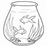 Aquarium Coloring Pages Fish Sheets Animals Advertisement sketch template