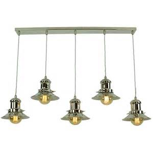 kitchen island with pendant lights vintage fisherman style kitchen island pendant with 5 hanging lights