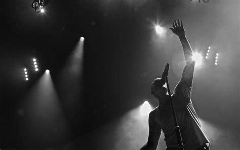 Linkin Park Monochrome Lights Concert Wallpaper
