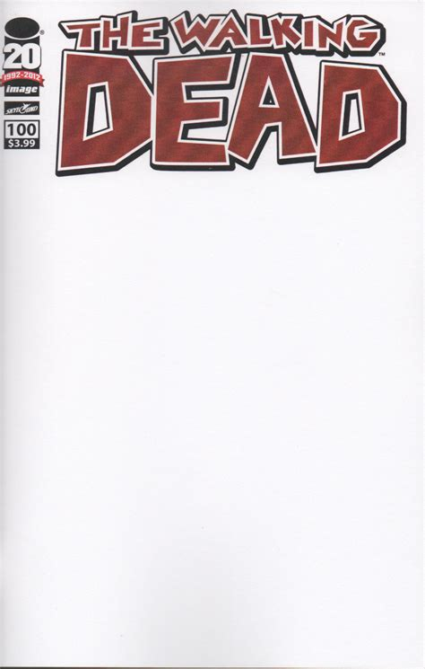 fear of blank page cover letter image issue 100 blank sketch cover jpg walking dead