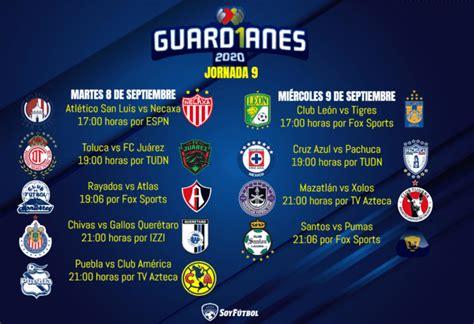 Partidos de la Liga MX: Jornada 9 del Apertura 2020 ...