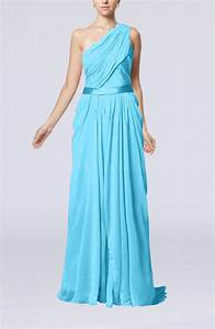turquoise elegant sheath one shoulder zipper chiffon With turquoise dress for wedding guest