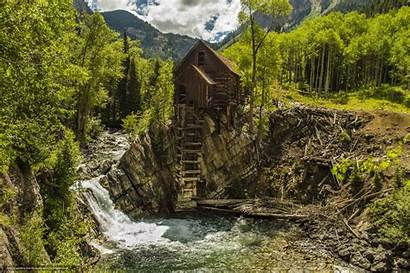 Desktop Wallpapers Cabin Nature Usa Mountain River