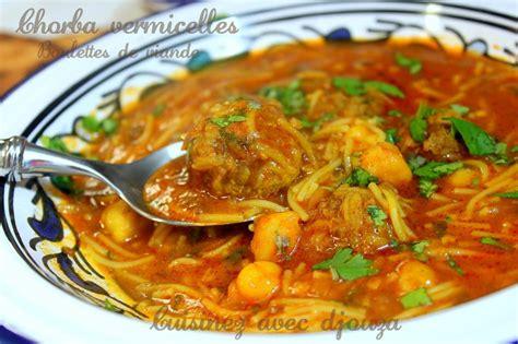 cuisine arabe facile chorba vermicelle algérienne recettes faciles recettes