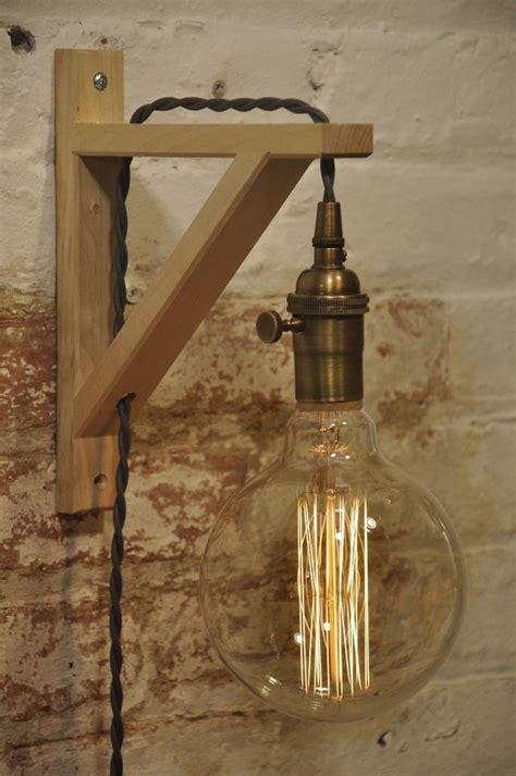 wall sconce antique brass birch wood light l industrial