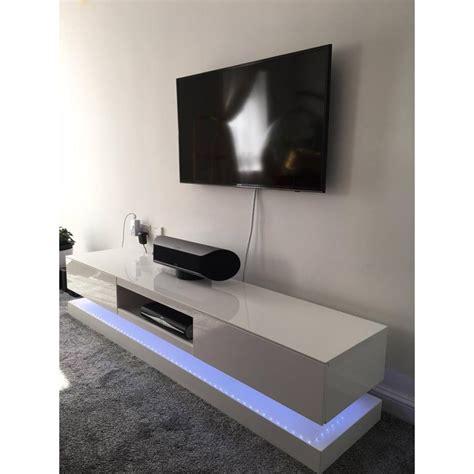 sven high gloss tv unit  led lights tv stands