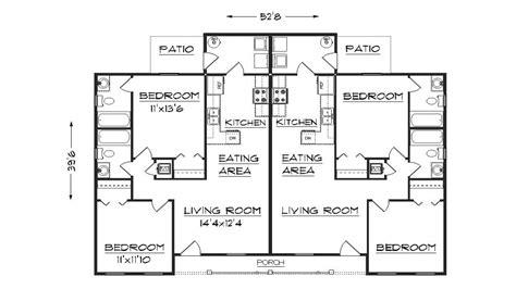 duplex floor plans duplex house plans  garage plan
