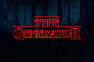type generator creates the font from 39stranger things39 With stranger things lettering