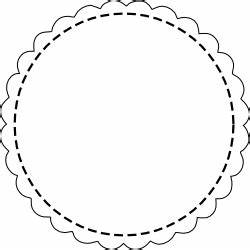 free digital scalloped circle scrapbooking tags With circle gift tag template