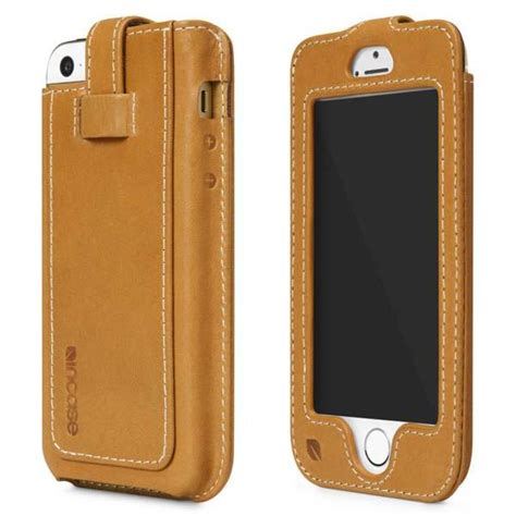 leather iphone 5 incase leather fitted sleeve iphone 5 gadgetsin