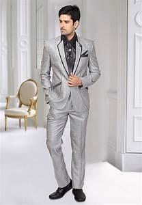 Mcd Chart Poly Cotton Blazer Suit In Light Grey Mcd2191