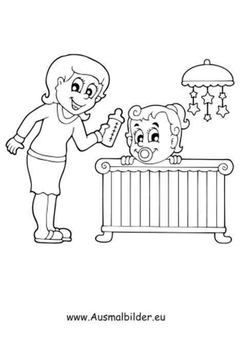 ausmalbilder mutter mit baby menschen malvorlagen