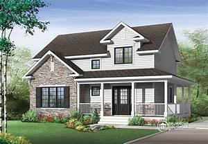 maison de campagne avec grande galerie et 3 chambres With plan de belle maison