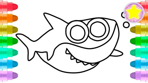 draw baby shark  baby  kidscoloring pages