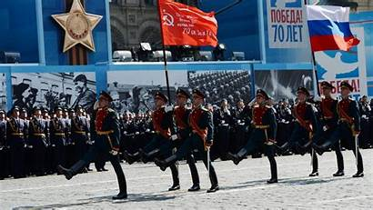 Russia Marching Demonstration Crowd Moscow Victory Military