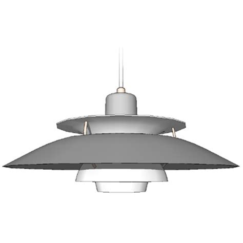 louis poulsen ceiling lights ph5 ph4 5 4 wohlhert 3d model