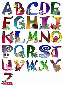 animal themed alphabet poster a z poster sticker With sports themed letter art