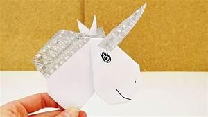 Einhorn Selber Basteln : diy einhorn aus origami herz washi tape selber basteln ~ A.2002-acura-tl-radio.info Haus und Dekorationen