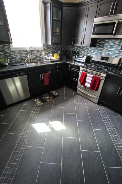 Gray Kitchen Floor Tile   Morespoons #0fb366a18d65