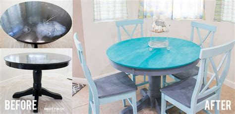 kitchen table makeover chalk paint table makeover 3226
