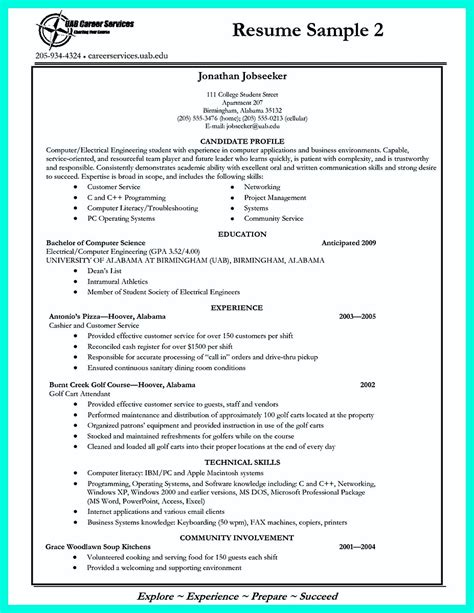 Resume Template Application by Write Properly Your Accomplishments In College Application