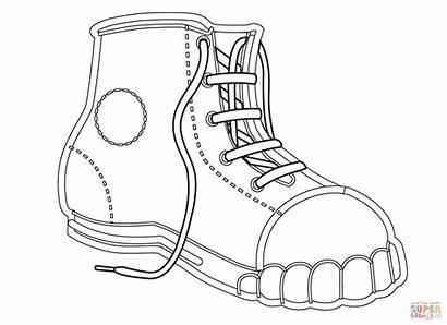 Ausmalbilder Coloring Shoe Wanderschuh Ausmalbild Zum Kostenlos