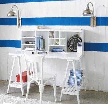 bureau fille et blanc bureau blanc dans chambre fille de maison du monde