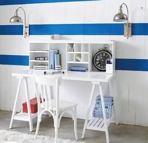 Maison Du Monde Bureau Fille : bureau blanc dans chambre fille de maison du monde ~ Teatrodelosmanantiales.com Idées de Décoration