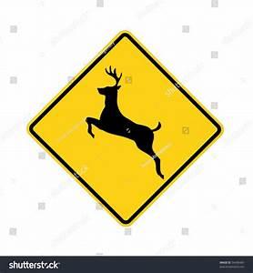 Road Sign - Deer Crossing Stock Photo 34408465 : Shutterstock