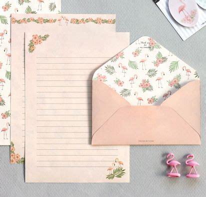 iconic pattern letter set flamingo   magic notebook