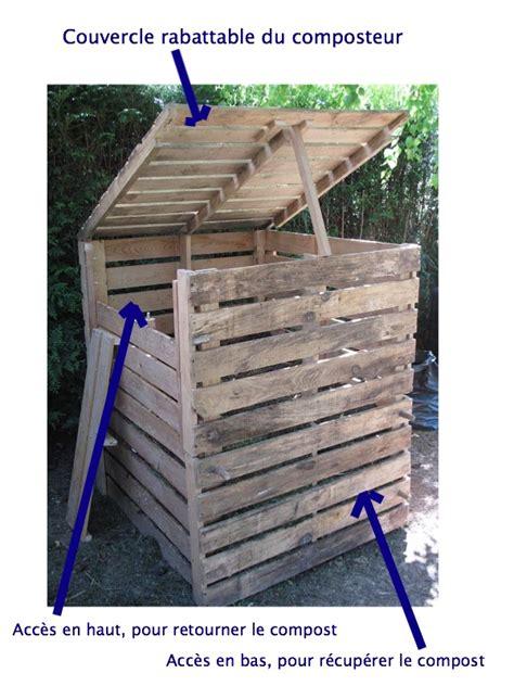 fabriquer un bac a avec couvercle comment fabriquer un composteur pour faire propre compost palettes fils