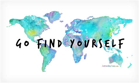 Go Find Yourself World Map - aquarell water color by
