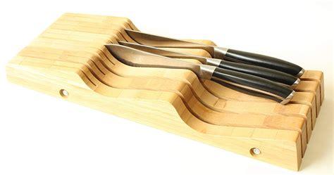 kitchen knife drawer storage bamboo 11 slot knife storage block organize drawer kitchen 5289