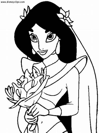 Jasmine Coloring Princess Disney Pages Disneyclips Characters