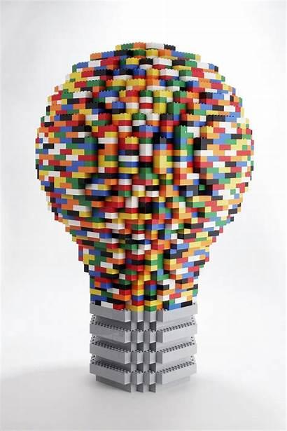 Lego Brick Idea Bright Lightbulb Cool Legos