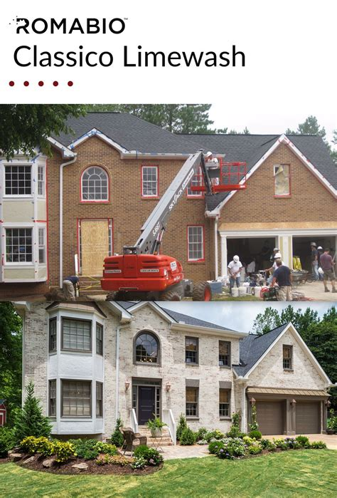 Excellent Before And After Of A Brick Home Makeover Using