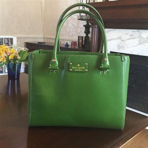 kate spade handbags kate spade sprout green handbag  sydneys closet  poshmark