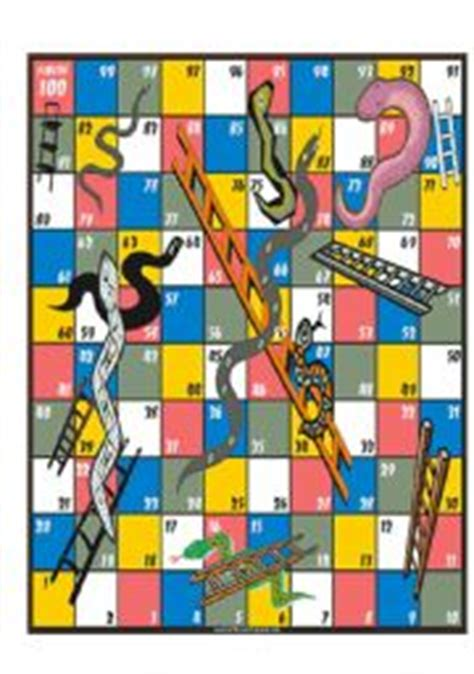 snakes  ladders game board esl worksheet  timlyall