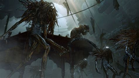 bloodborne witch hemwick boss battle monsters vg247 beat